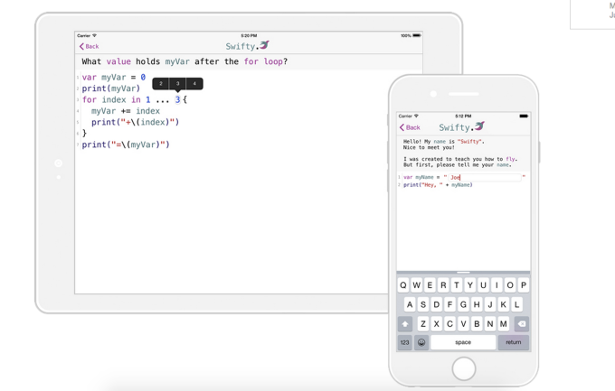 Swifty app iPhone iPad